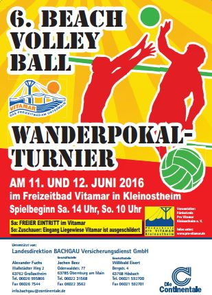 BeachvolleyballturnierPlakat2016