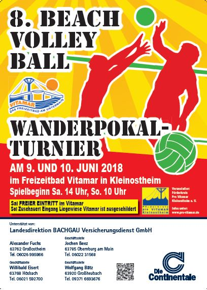 Plakat Beachvolleyball 2018