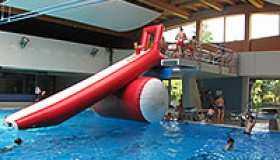 4. Januar 2020 - Badespaß mit der mobilen Wasserrutsche